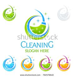 Cleaning Service vector Logo design, Eco Friendly Concept with shiny splash isolated on white Background Cleaning Company Logo, Cleaning Service Logo, Cleaning Companies, Cleaning Business, Cleaning Logos, Cool Boys Haircuts, Vector Logo Design, Graphic Design, Travel Illustration