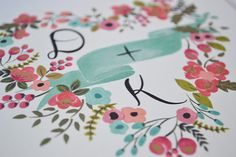 Love this floral illustration from Loft Life Press