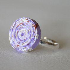 Purple Paper Ring