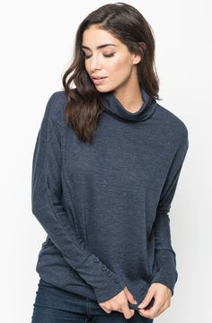 http://www.caralase.com/button-cowl-neck-sweater/ | Cowl neck ...