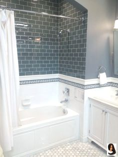 Remodel with tub Idea, tricks, furthermore overview beneficial to receiving the most effective ou. Idea, tricks, furthermore overview beneficial to receiving the most effective outcome and also making the maximum utilization of Bathroom Tub Remodel Hall Bathroom, Upstairs Bathrooms, Bathroom Renos, Bathroom Renovations, Bathroom Interior, Home Remodeling, Bathroom Ideas, Bathtub Ideas, Bathroom Inspo