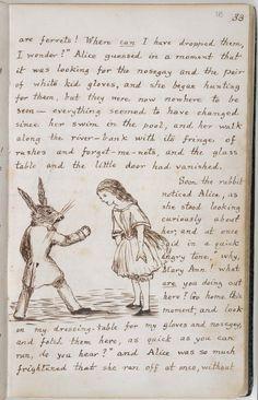 The original manuscript for Alice in Wonderland on the British Library's Timelines website