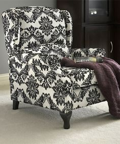 LOVE!! Damask Wing Recliner