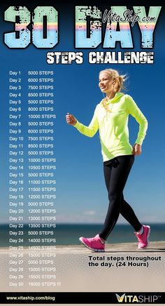 Workout Challenge How To Change Your Life Within A Month Using The Steps Challenge! - The main aim of the Steps Challenge is to get you walking at least steps per day which is the recommended steps experts claim is the key to good health. Power Walking, Walking Plan, Walking Program, Walking Challenge, 30 Day Challenge, Workout Challenge, Thigh Challenge, Plank Challenge, Workout Plans