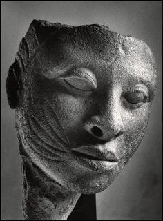 a—fri—ca:  Terra-cotta Head. Ancient Ife, Nigeria Photo ©Herbert List - Magnum Photos