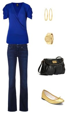 """""""Out Shopping"""" by fabafter40 ❤ liked on Polyvore featuring Repetto, Arena CPH, Michael Kors, 7 For All Mankind, Marc by Marc Jacobs and McQ by Alexander McQueen"""