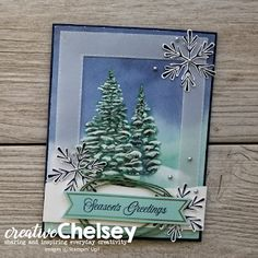 Creative Chelsey: October 2019 Paper Pumpkin - Make two beautiful Alternative Cards with this Winter Woods themed kit
