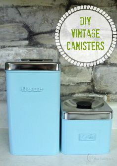 DIY Vintage Canisters  (projects, crafts, DIY, do it yourself, interior design, home decor, fun, creative, uses, use, ideas, inspiration, 3R's, reduce, reuse, recycle, used, upcycle, repurpose, handmade, homemade, materials, create, tin cans, organising)