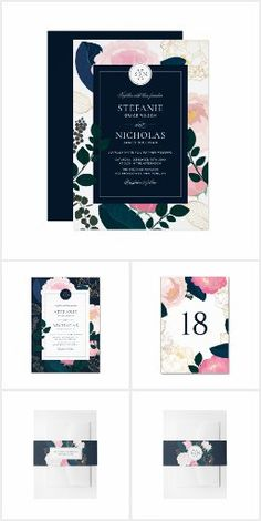 Modern Pink Peonies Gold Foil Wedding Collection Elegant and modern collection featuring pink flowers, blue and green foliage and faux gold foil accents. Perfect for spring and winter events. Wedding Invitation Trends, Affordable Wedding Invitations, Beautiful Wedding Invitations, Wedding Rsvp, Wedding Invitation Templates, Zazzle Invitations, Wedding Themes, Invitation Design, Pink Peonies