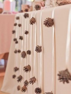 Love this woodlands table decor for a fox-themed bridal shower.