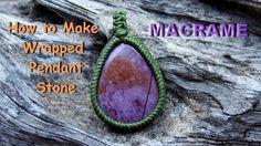 How to make a macrame handmad Wrapped Lavender Jade stone pendant