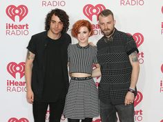 Paramore, Taylor York, Hayley Williams and Jeremy Davis at iHeartRadio Music Festival 2014