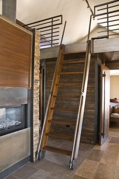 Quaker Bluff Cottage - contemporary - staircase - burlington - Birdseye Design