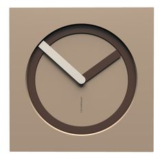 10-022-Q14C69B14O69M11 Wall clock KAM  - Do you like this color scheme? Caffelatte, chocolate and flax. Have fun creating your own #wallclock
