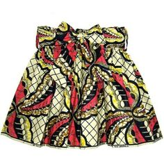 african print ruched skirt
