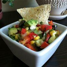 Avocado and sweetcorn salad @ allrecipes.co.uk