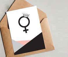 Feminist Art, Feminism, Activism, Wall Art, Graphic Design, Minimalist Design, Geometric Design, modern wall art Feminist Icons, Feminist Quotes, Feminist Art, Printable Cards, Printable Wall Art, Venus Symbol, Ruth Bader Ginsburg, Iconic Women, Modern Wall Art