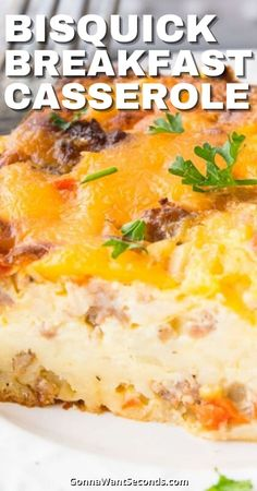 *NEW* This easy cheesy Bisquick Breakfast Casserole is loaded with sausage, egg, potatoes, and peppers. Famished folks, this feast has your name on it! #Bisquick #Breakfast #BreakfastCasserole #Casserole Bisquick, Breakfast Casserole, Casserole Recipes, Sausage, Potatoes, Yummy Food, Stuffed Peppers, Ethnic Recipes, Easy