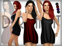 The Sims Resource: Meadow Slip Lingerie by DarkNighTt • Sims 4 Downloads