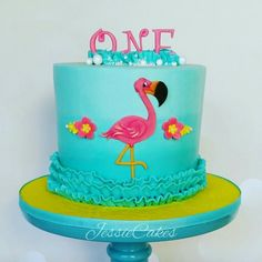Flamingo Cake @JessieCakesNM