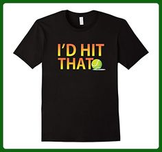 Mens Funny Tennis t shirt: I'd Hit That 3XL Black - Sports shirts (*Amazon Partner-Link)