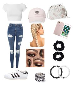 """White plus blush☺️"" by dylanmckenzie on Polyvore featuring Helmut Lang, Topshop, adidas, Accessorize, Lokai and WithChic"