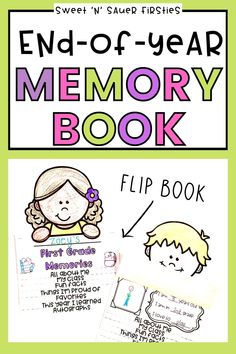 Are you looking for fun and engaging way to celebrate the end of the year with your students? Students will love creating this end of year memory book as an end of the year activity! Students get to come together as classroom community one last time as they reflect on their year and it makes a fantastic keepsake. Check of this printable end of year memory book that is a flip book today!