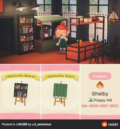 animal crossing qr codes Im not much of a custom creator but after some awesome inspiration Ive seen on here, I made my very own Starbucks chalkboard menu! (And matching stall) : ACQR
