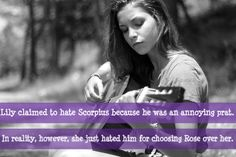 Lily claimed to hate Scorpius because he was an annoying prat. It was actually because he chose Rose instead of her.