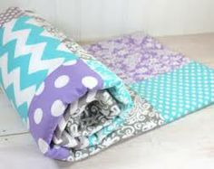 teal purple and grey bedroom - Google Search.  Maybe I could find someone to make me an over sized patchwork quilt for my king size bed...