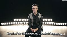 I'm Pete Wentz from My Chemical Romance
