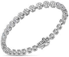 Zales Oval Tanzanite and Diamond Accent Beaded Frame Vintage-Style Bracelet in Sterling Silver - 7.5 RYRUtD9ibn