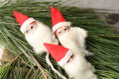 Vintage Miniature Santa  Corsage Santa  by PhoebesTreasureChest