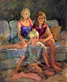 Portraits of groups and children painted by Susan Ryder. Sue is a member of The Royal Society of Portrait Painters and the New English Art Club. Family Portrait Painting, Love Painting, Painting For Kids, Portrait Art, Family Portraits, Painting Flowers, Family Photos, A Level Art, Art Club