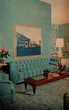 vintage and retro home decor 1970s Living Room, Retro Living Rooms, Mid Century Living Room, My Living Room, Sala Vintage, Vintage Room, Funky Home Decor, Vintage Home Decor, 1940s Decor