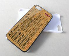 Disneyland E Ticket Disney for iPhone 4/4s/5/5s/5c, Samsung Galaxy s3/s4 case