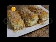 طريقة شهية وسهلة لعمل الكنافة المبرومة - YouTube