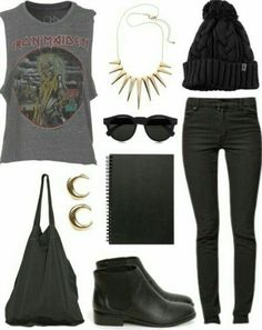 Rock Style Fashion Outfit ideas Art On Sun: Reference: Rock Style Fashion: 27 Outfit ideas and Stylish Combinations find more mens fashion on ARTONSUN Grunge Outfits, Rock Outfits, Grunge Fashion, Look Fashion, Trendy Fashion, Fashion Outfits, Womens Fashion, Lolita Fashion, Tomboy Outfits