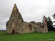 Pälkäne, Pirkanmaa, Finland. Church ruins - kirkonrauniot. My ancestor used to work in this church in the 1500s.