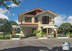 Exterior Rendering Gallery from architectural plans delivered on schedule. models of European and American designs with complete attention to details. Latest House Designs, New Home Designs, Cool House Designs, House Design Photos, Modern House Design, Mary Poppins, Digimon, Farming, Filipino House