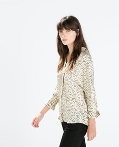 BLOUSE WITH BACK DETAIL-Blouses-Tops-WOMAN | ZARA United Kingdom