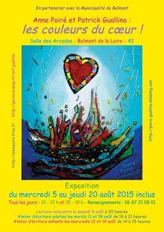 Exposition : les couleurs du cœur - suite (4) - Anne Poiré et Patrick Guallino