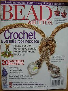 B&B - papinsu - Picasa Web Albums Magazine Beads, Magazine Crafts, Beaded Jewelry Patterns, Beading Patterns, Book Jewelry, Crochet Buttons, Bead Crochet Rope, Seed Bead Bracelets, Flower Pendant