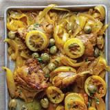 Djej Besla - Chicken and Onion Tagine -Onions stew until soft and sweet in this satisfying one-pot chicken dish flavored with saffron, turmeric, lemon, and olives. This looks SO delicious. Paleo Recipes, Indian Food Recipes, Dinner Recipes, Cooking Recipes, Citrus Recipes, Onion Recipes, African Recipes, Moroccan Recipes, Meal Recipes