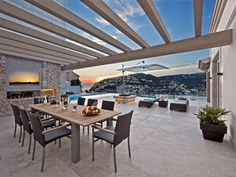 And those meals are ideally served in the outdoor dining area as the sun sets.