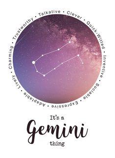 It's a Gemini thing