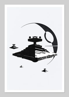 • Star Wars Inspired Abstract 13x19 Graphic Print. ...
