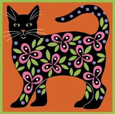 Flowered Cat Umber  ~*~ Stephanie Stouffer