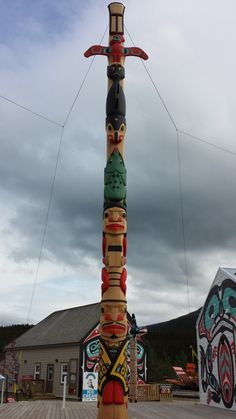 Our Yukon adventure took us to Carcross, where a local Tlingit artist's totem had recently been erected.