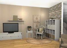 Wohnzimmervorschlag 3D-visualisiert Modern, Flat Screen, 3d, Environment, Oak Tree, Living Room, Homes, Blood Plasma, Trendy Tree